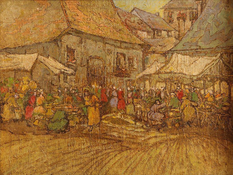 Georgina Moutray Kyle (1865-1950), Market Stalls at Morgan O'Driscoll Art Auctions