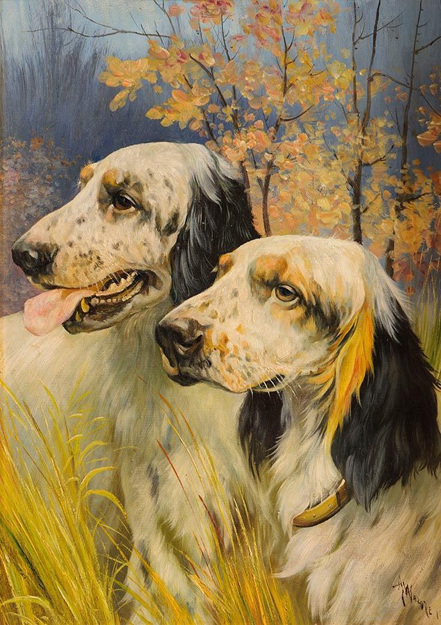 Attributed to Arthur Wardle (1864-1949) British, Hunting Dogs at Morgan O'Driscoll Art Auctions
