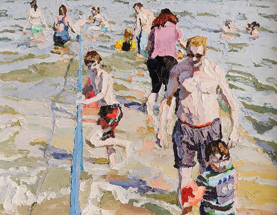 Stephen Cullen (b.1959), The Forty Foot at Morgan O'Driscoll Art Auctions