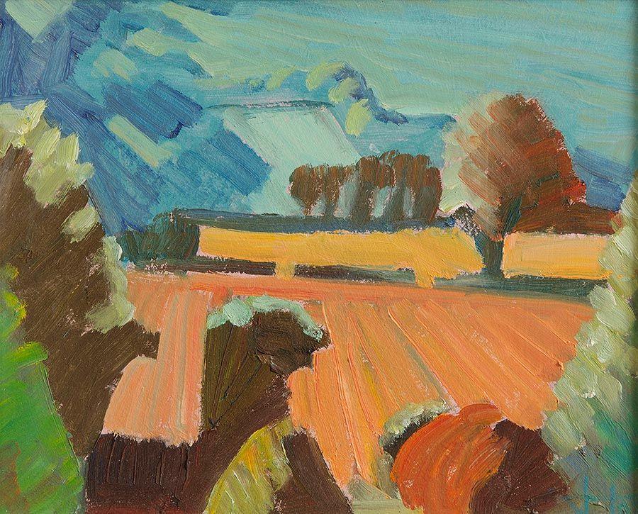 John Jobson (b.1941), Stubble From Little Sugar Loaf at Morgan O'Driscoll Art Auctions