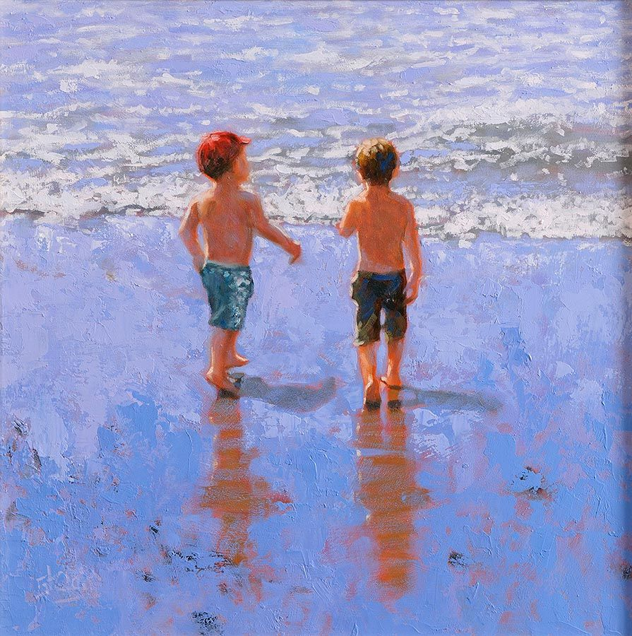 Vivienne St Clair (20th/21st Century), Boys at the Beach at Morgan O'Driscoll Art Auctions