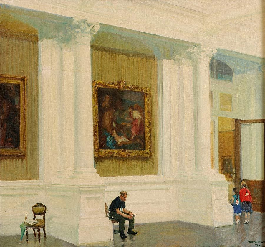 Thomas Ryan PPRHA (b.1929), In The National Gallery at Morgan O'Driscoll Art Auctions