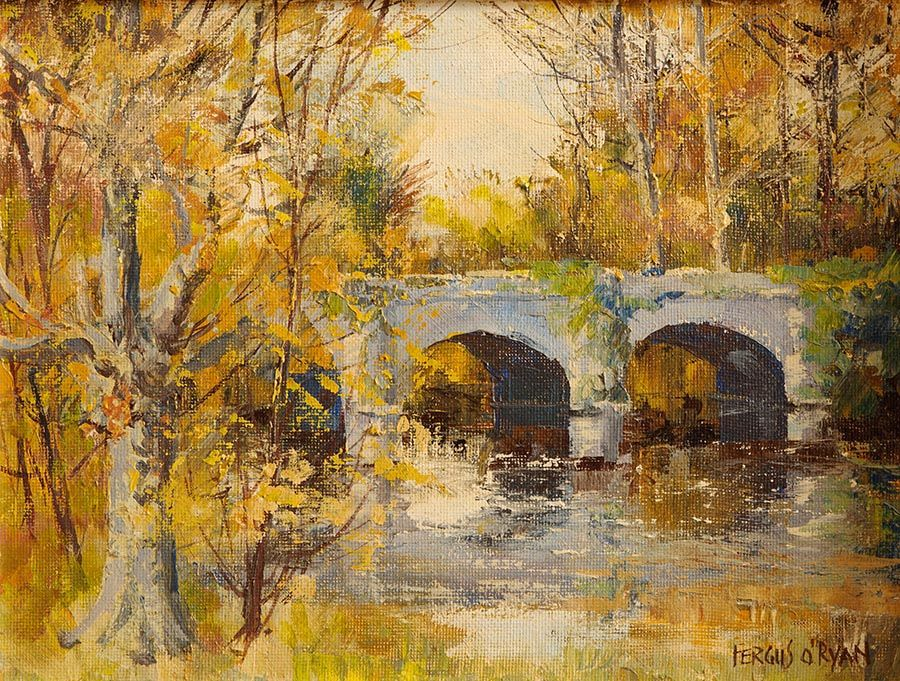Fergus O'Ryan RHA (1911-1989), The Bridge, Autumn at Morgan O'Driscoll Art Auctions