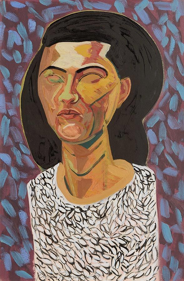 Brian Bourke HRHA (b.1936), Portait of a Lady at Morgan O'Driscoll Art Auctions