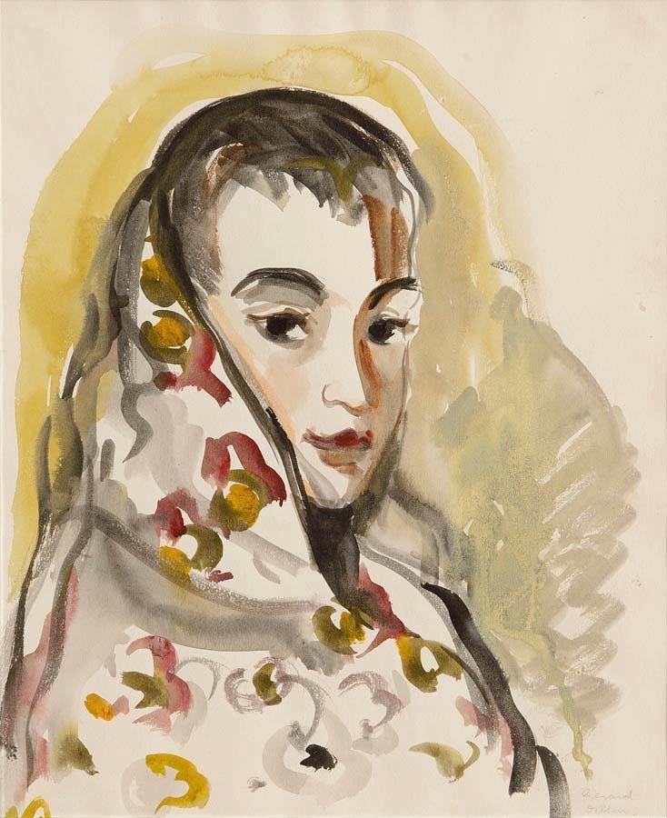 Gerard Dillon RHA RUA (1916-1971), Shawlie West of Ireland at Morgan O'Driscoll Art Auctions
