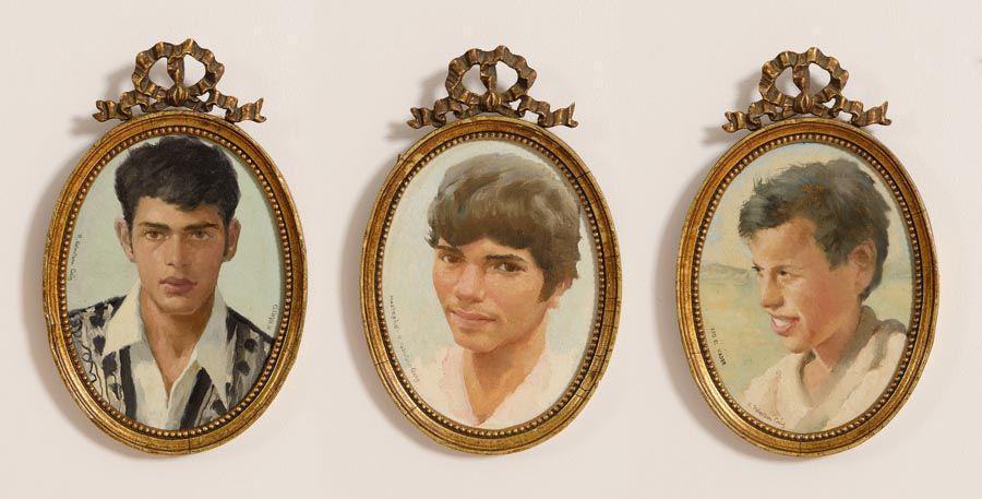 Henry Robertson Craig RHA RUA (1916-1984), Portraits of North African Young Men at Morgan O'Driscoll Art Auctions