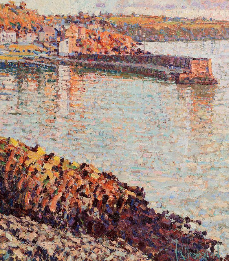 Arthur K. Maderson (b.1942), Point of Sunset, Glandore, West Cork at Morgan O'Driscoll Art Auctions