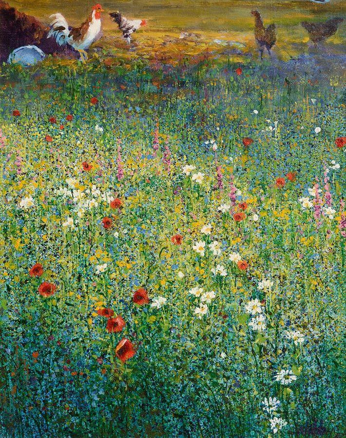 Kenneth Webb RWA FRSA RUA (b.1927), Cockerals in the Meadow at Morgan O'Driscoll Art Auctions