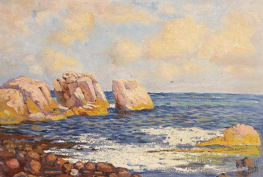 David Bond Walker (1891-1977), Coastal Scene at Morgan O'Driscoll Art Auctions