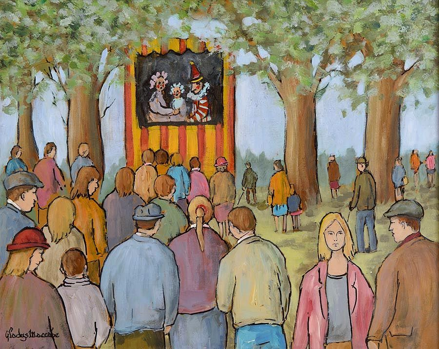 Gladys MacCabe ROI FRSA MA HRUA (1918-2018), Punch and Judy at Morgan O'Driscoll Art Auctions