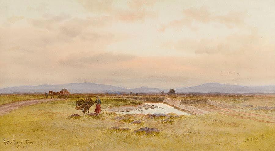 Joseph William Carey RUA (1859-1937), The Bog of Allen at Morgan O'Driscoll Art Auctions