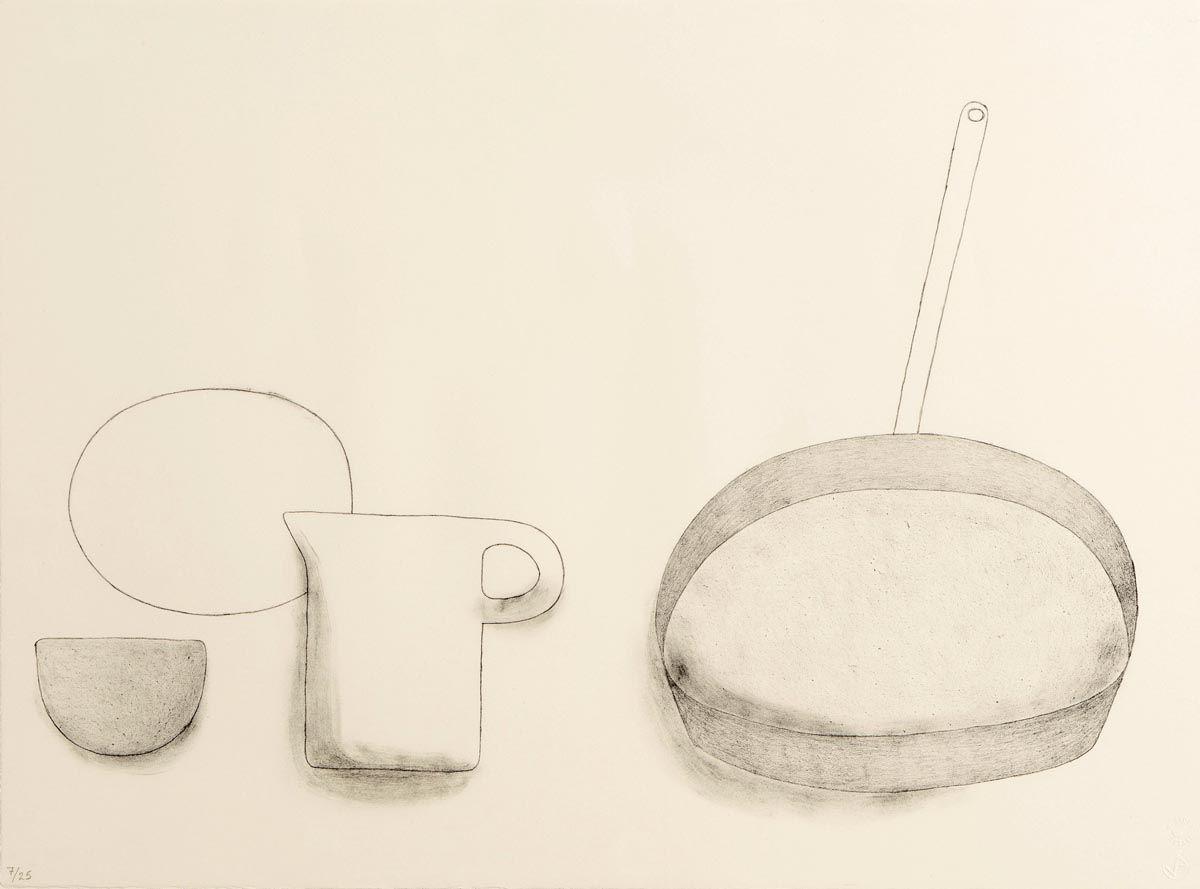 William Scott OBE RA (1913-1989), Frying Pan, Jug and Bowls at Morgan O'Driscoll Art Auctions