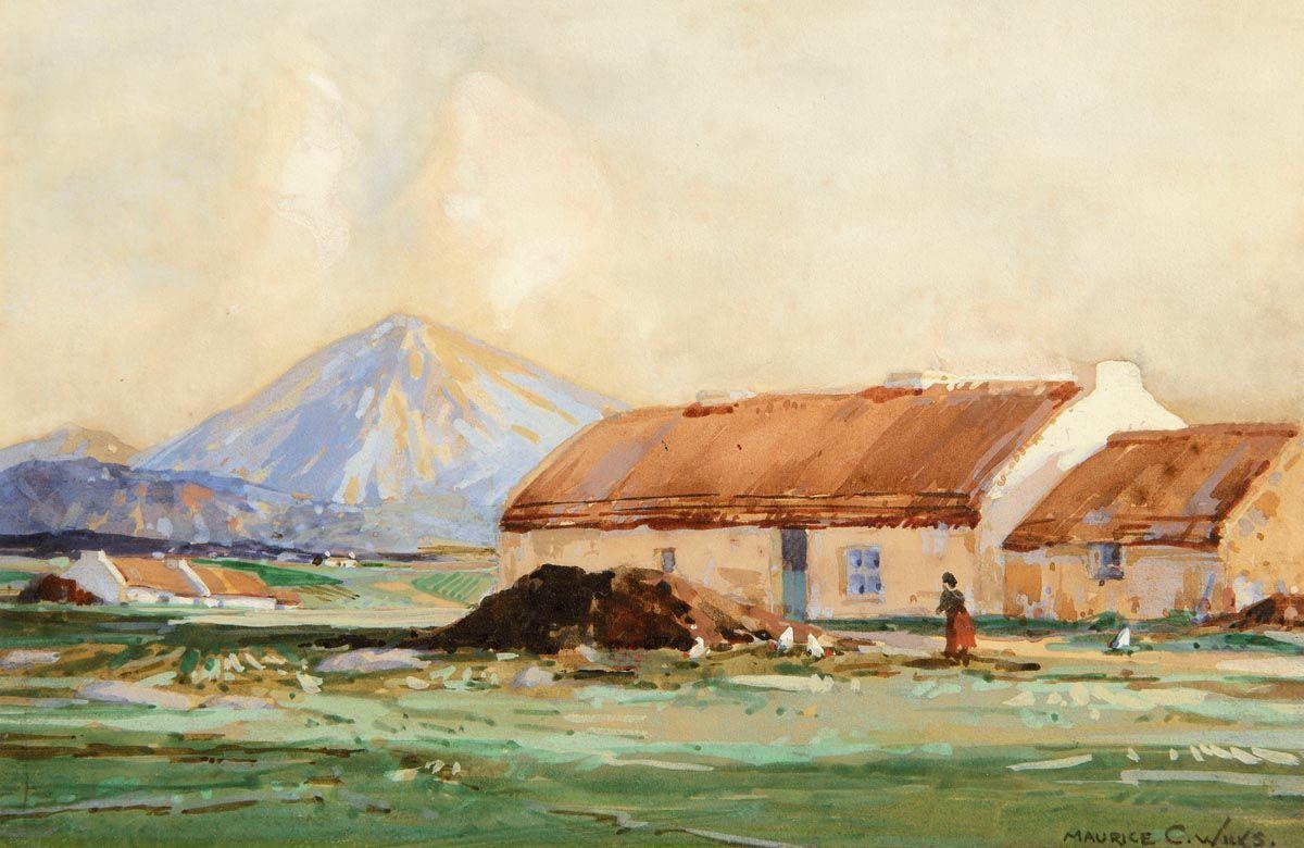 Maurice Canning Wilks ARHA RUA (1911-1984), Feeding the Hens at Morgan O'Driscoll Art Auctions