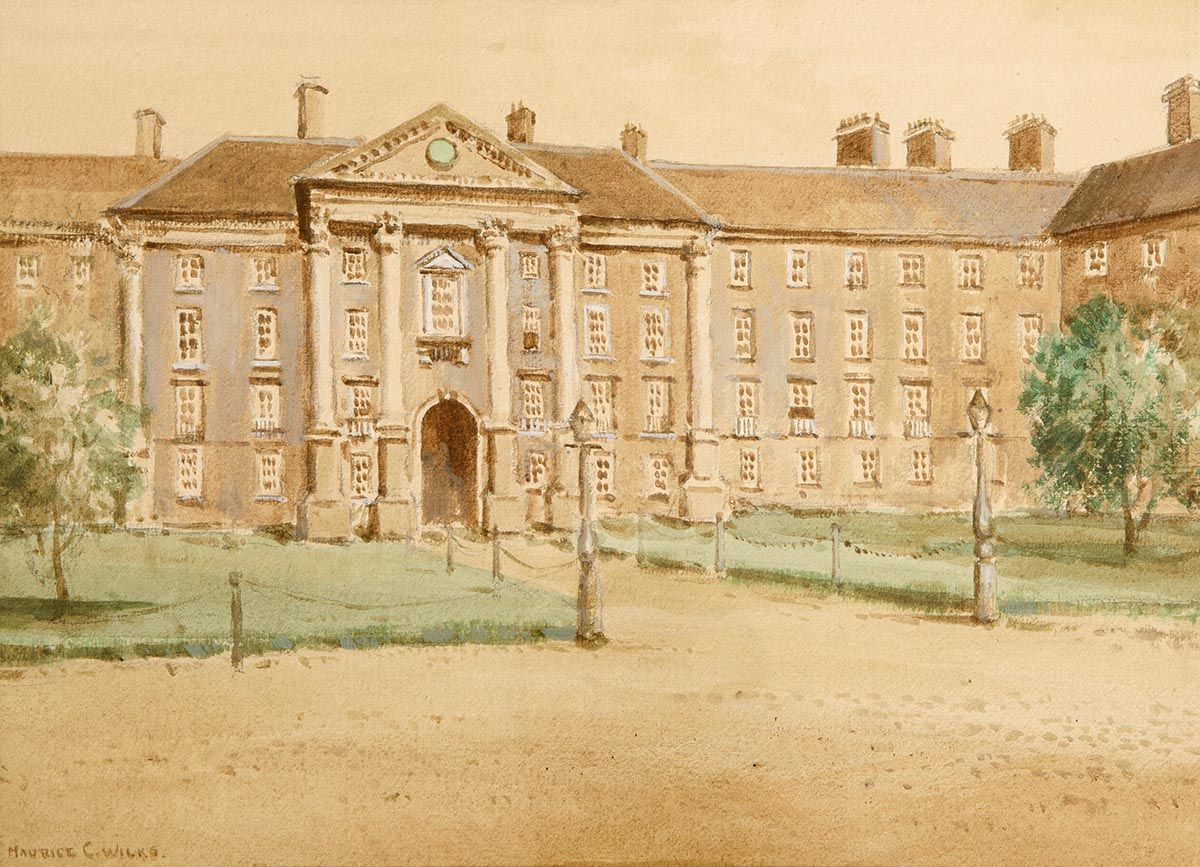 Maurice Canning Wilks ARHA RUA (1911-1984), Trinity College, Dublin at Morgan O'Driscoll Art Auctions