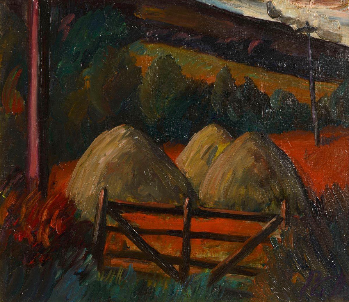 Peter Collis RHA (1929-2012), Farm Gate at Morgan O'Driscoll Art Auctions