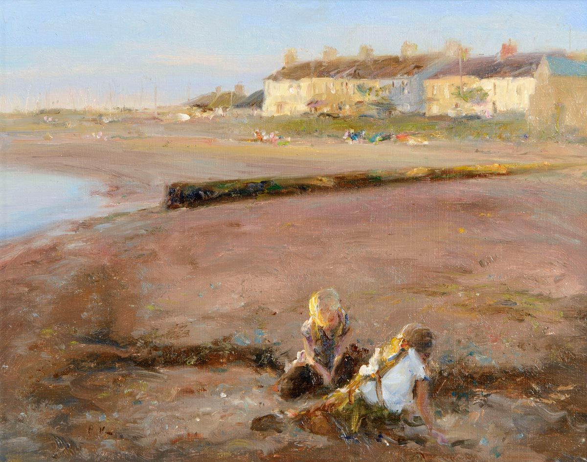 Paul Kelly (20th Century) British, Playing on the Beach at Morgan O'Driscoll Art Auctions