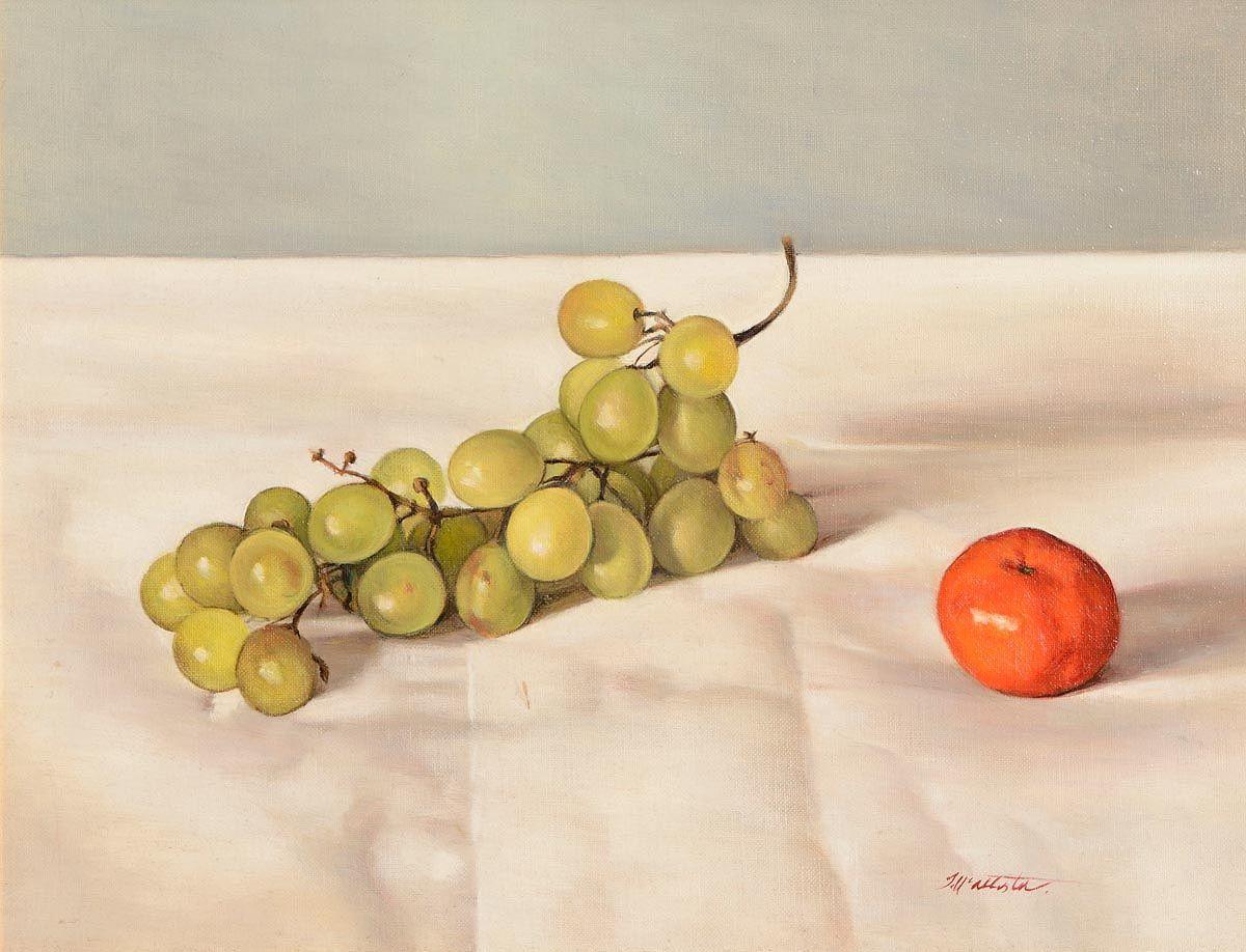 Therese McAllister (b.1951), Grapes and Manderin at Morgan O'Driscoll Art Auctions