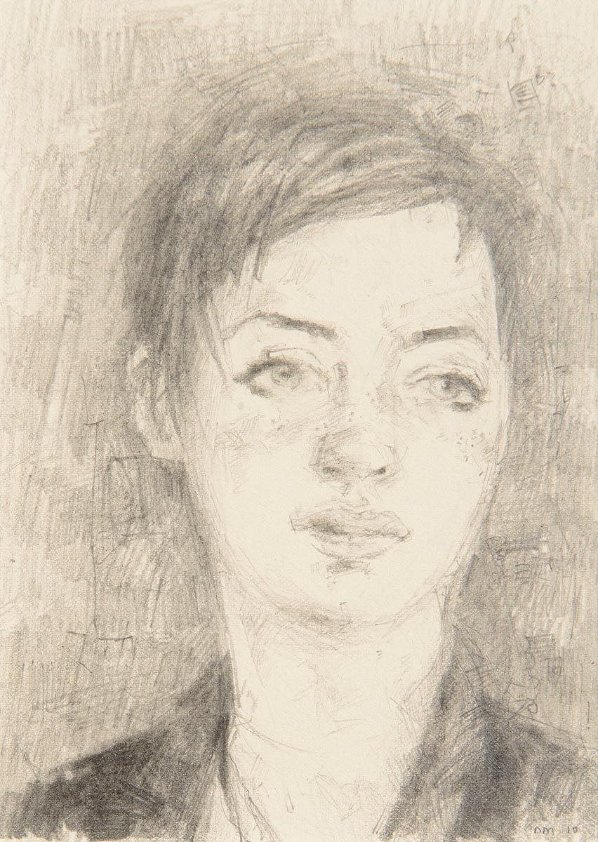Noel Murphy (b.1970), Portrait of Annette at Morgan O'Driscoll Art Auctions
