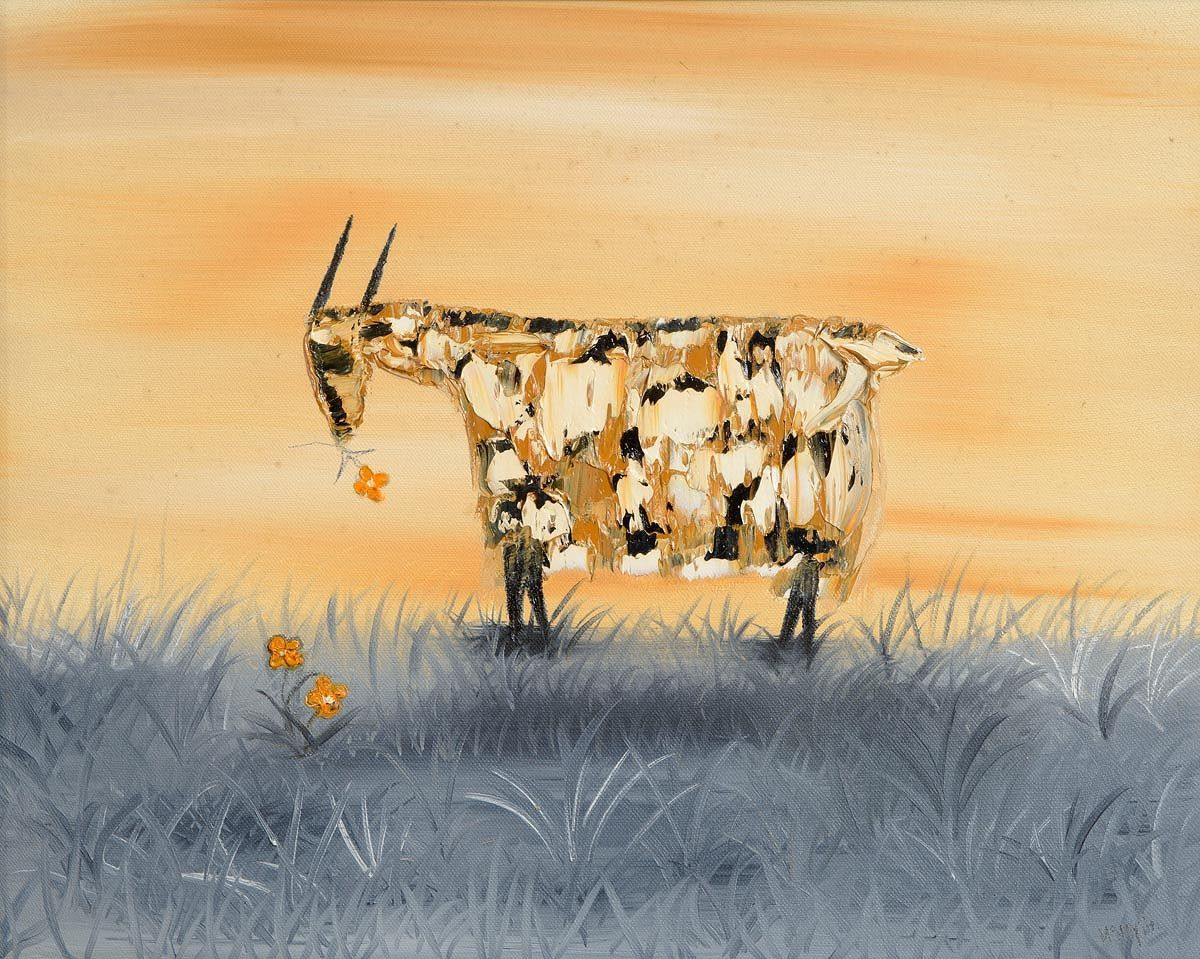 Michael Smyth (b.1961), Goat With Flower at Morgan O'Driscoll Art Auctions