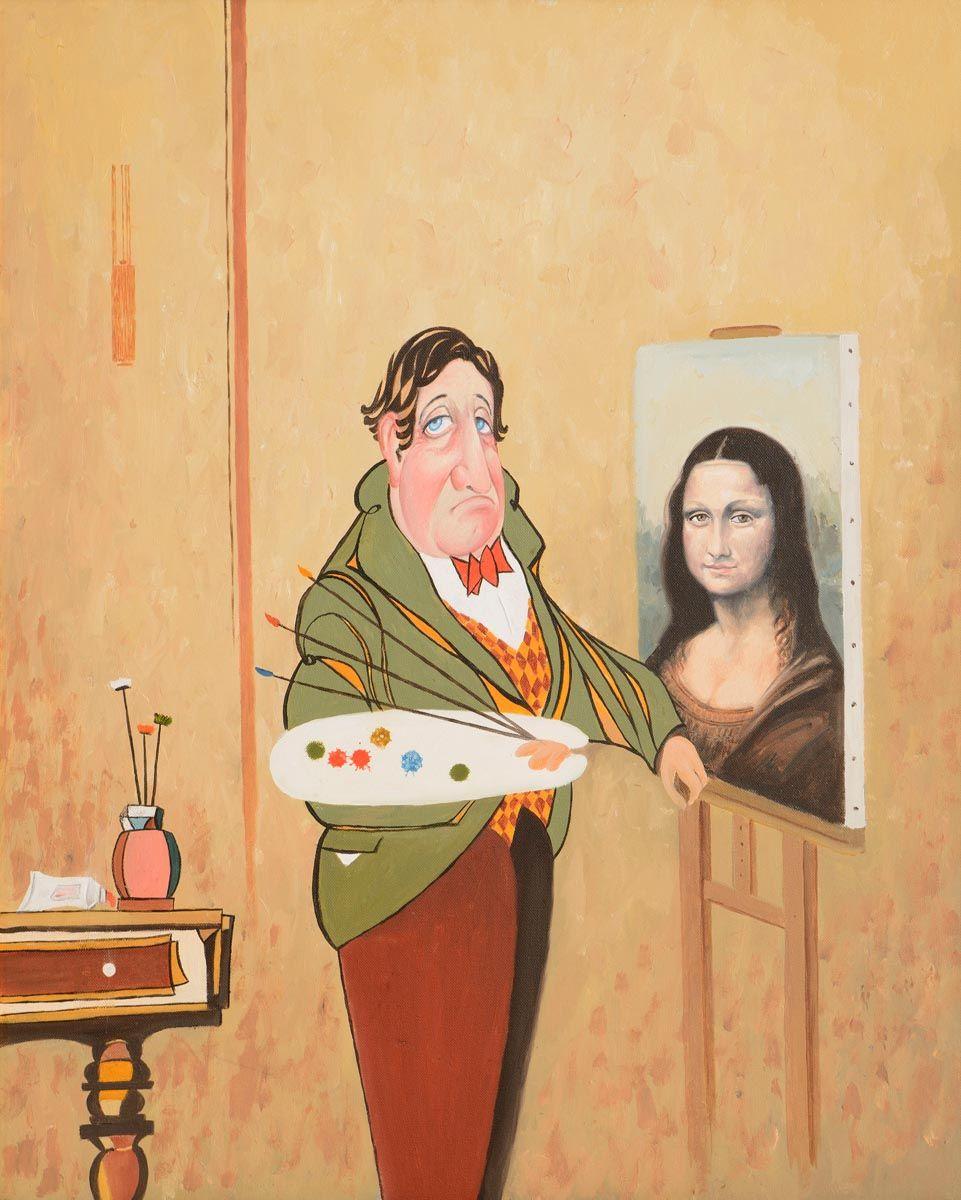 John Schwatschke (b.1943), Portrait of the Artist at Morgan O'Driscoll Art Auctions