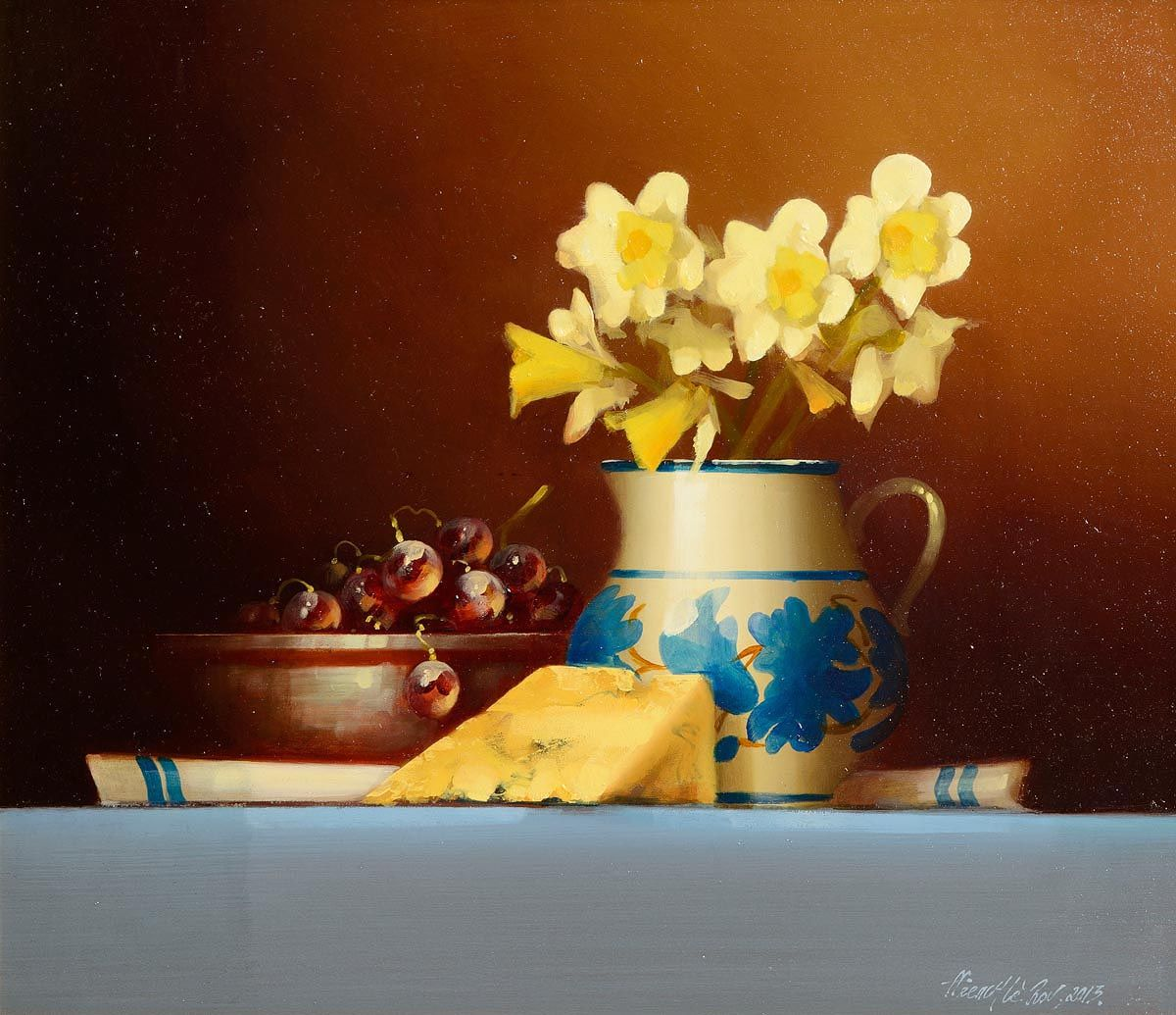 David Ffrench Le Roy (b.1971), Still Life with Spring Flowers at Morgan O'Driscoll Art Auctions