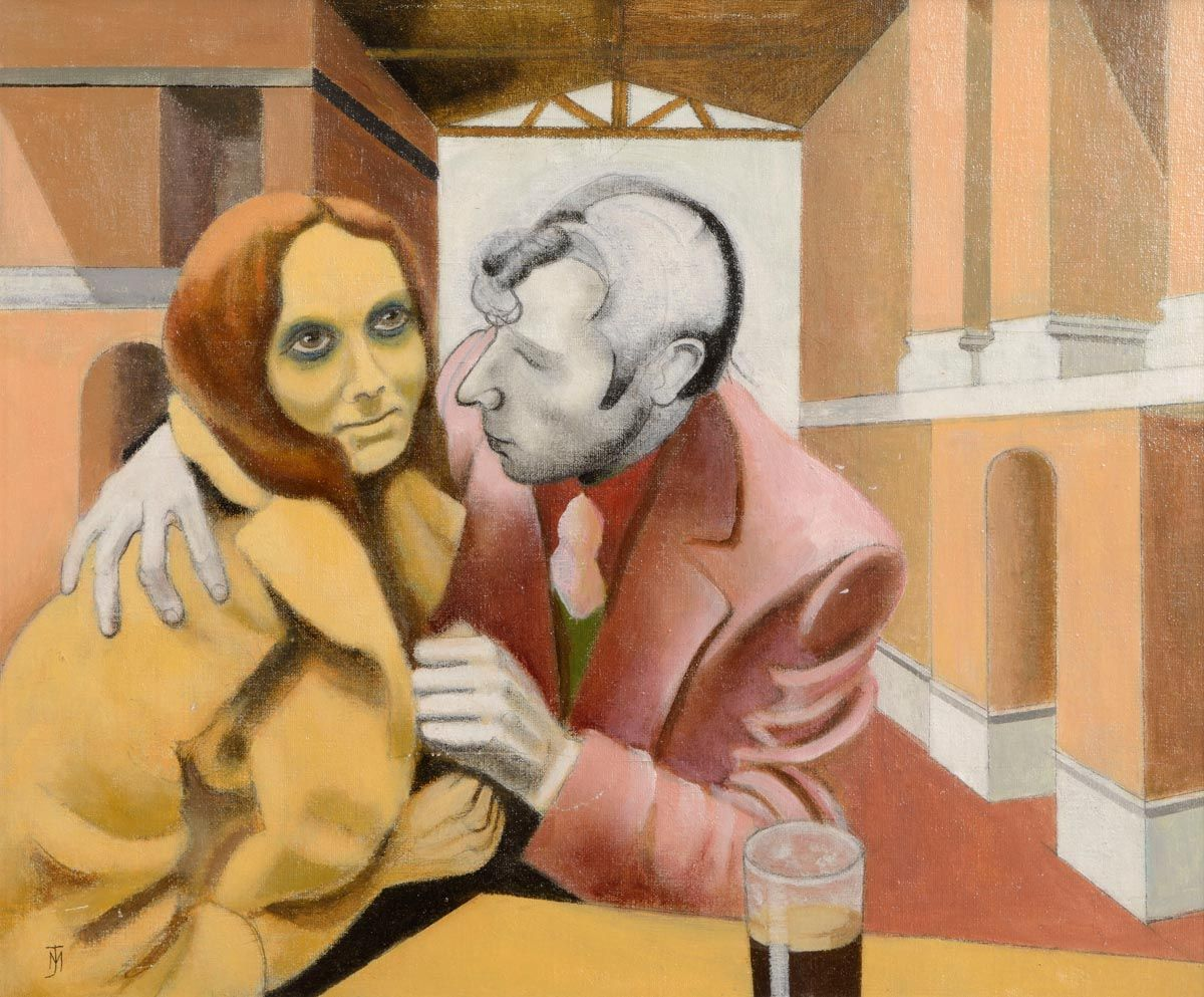 Marian Jeffares (1916-1986), The Couple at Morgan O'Driscoll Art Auctions