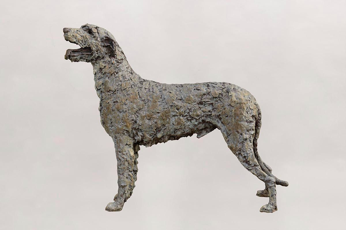 Stephen McKeown (20th/21st Century), Irish Wolfhound (life size) at Morgan O'Driscoll Art Auctions