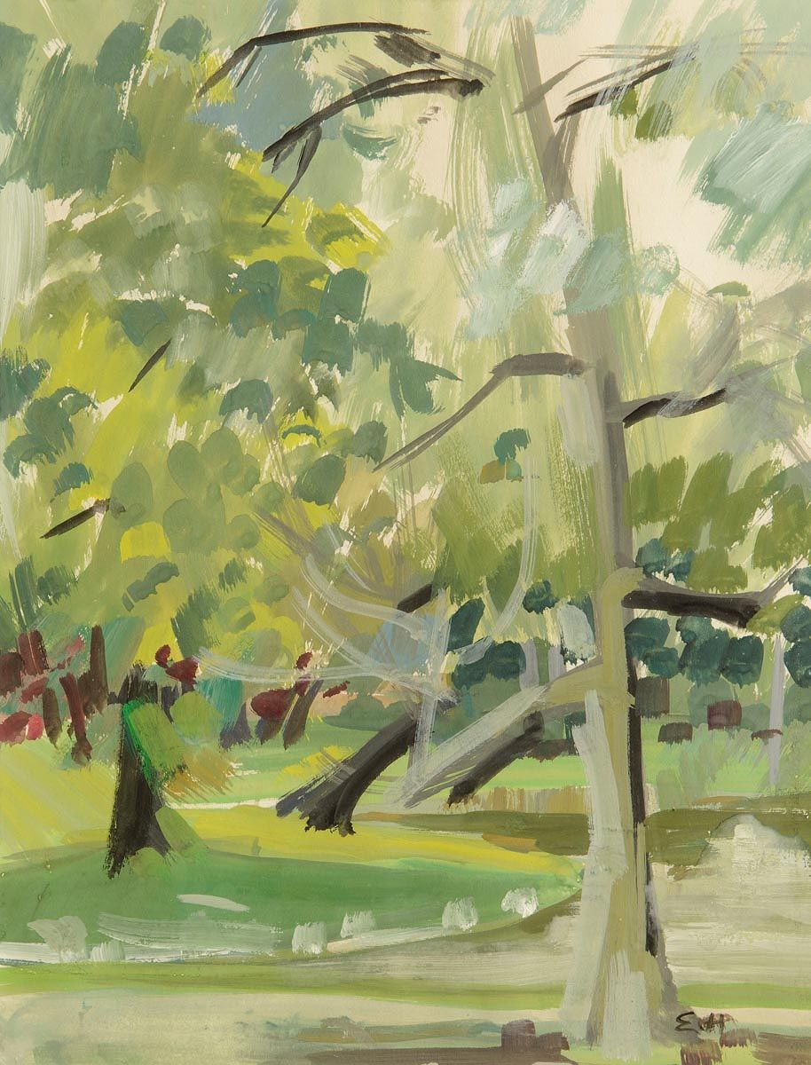 Evie Hone, Trees by a Lake at Morgan O'Driscoll Art Auctions