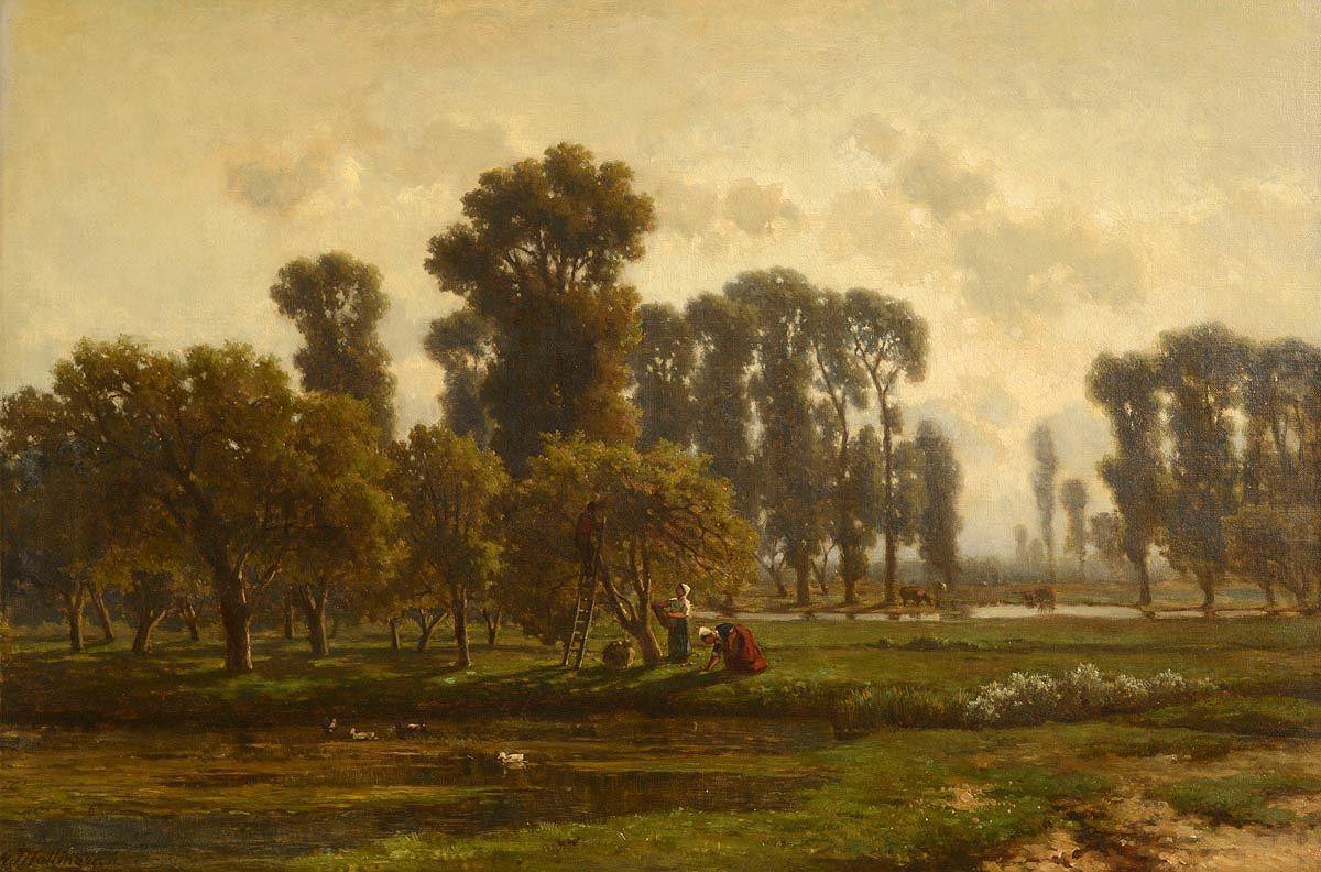 Gerrit Alexander G. Mollinger, Apple Harvesting at Morgan O'Driscoll Art Auctions