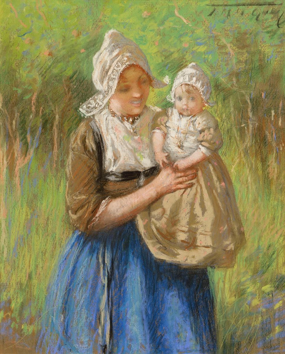 Jessie McGeehan, The Young Mother, Volendam at Morgan O'Driscoll Art Auctions