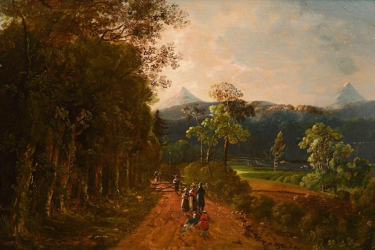 William Sadler, View of the Great Sugar Loaf and Little Sugar Loaf, Co. Wicklow at Morgan O'Driscoll Art Auctions