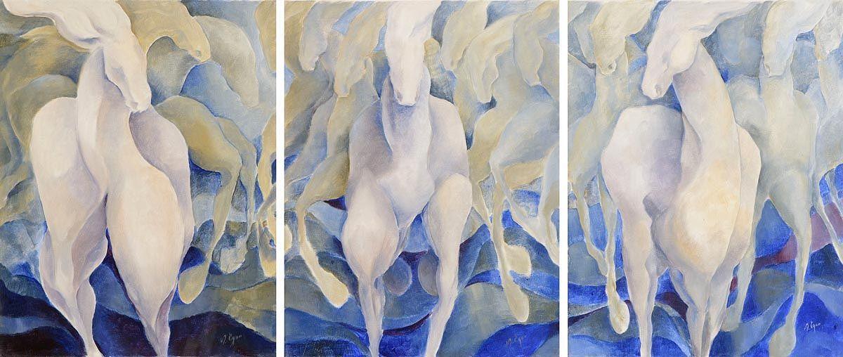 Margaret Egan, Dancing Horses at Morgan O'Driscoll Art Auctions