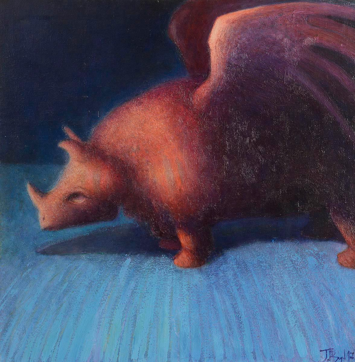 John Boyd, Winged Rhinoceros at Morgan O'Driscoll Art Auctions