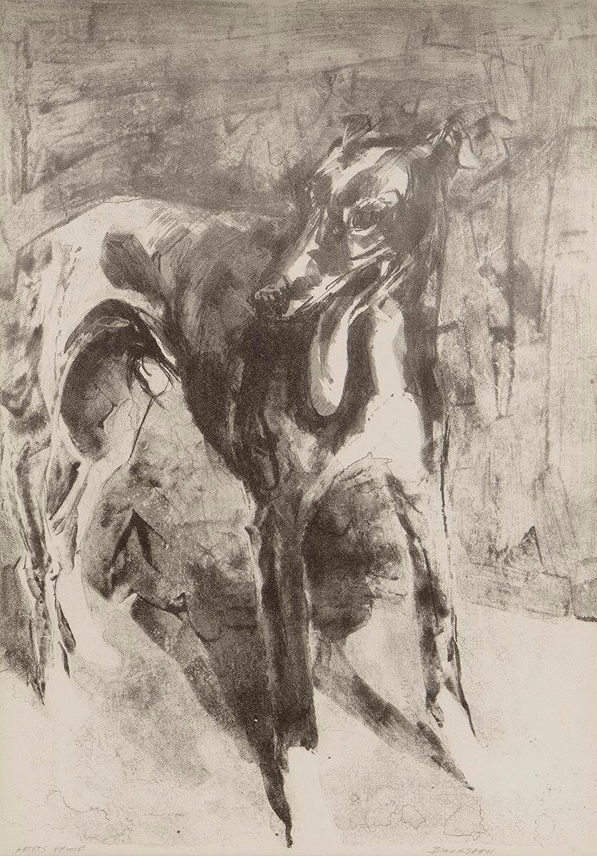 Basil Blackshaw, Hound at Morgan O'Driscoll Art Auctions