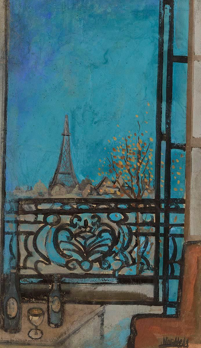 Markey Robinson, View of the Eiffel Tower at Morgan O'Driscoll Art Auctions