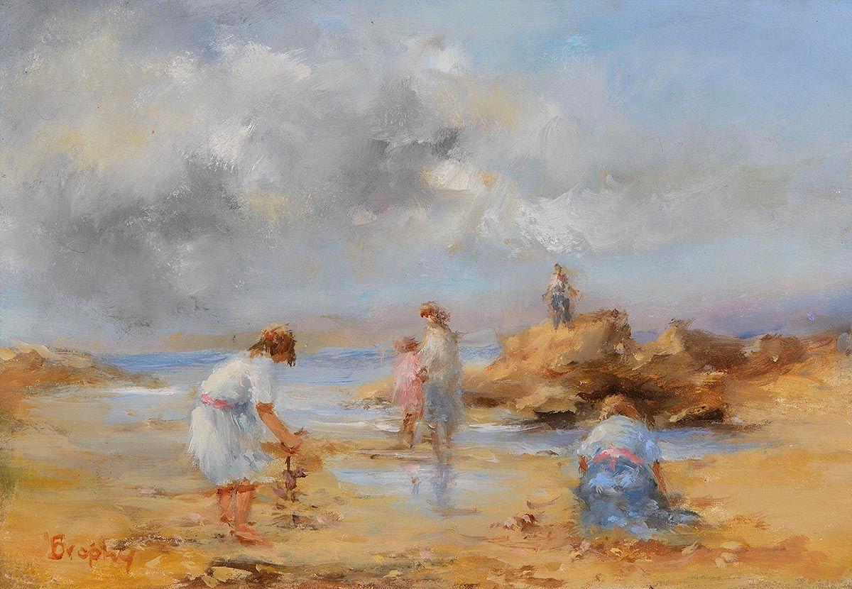 Elizabeth Brophy, Collecting Shells at Morgan O'Driscoll Art Auctions