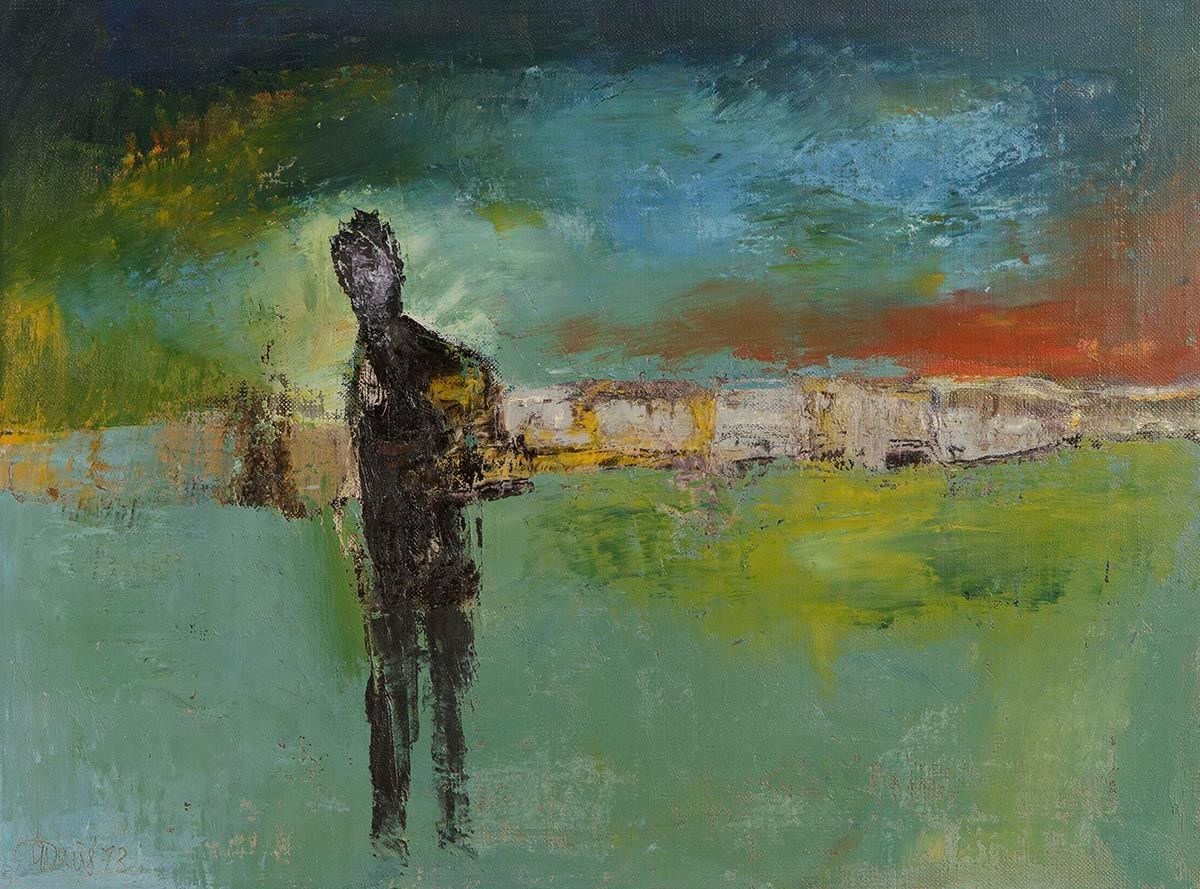 Gerald Davis, Figure in the Landscape at Morgan O'Driscoll Art Auctions