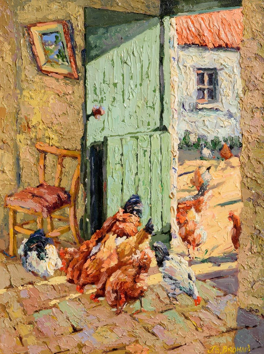James S. Brohan, Chicken Pickings at Morgan O'Driscoll Art Auctions