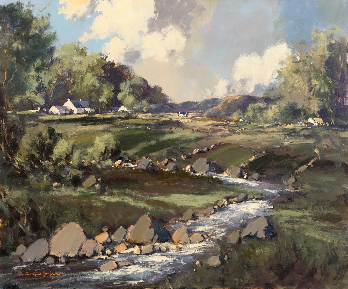 George Gillespie, Donegal Landscape with Cottages at Morgan O'Driscoll Art Auctions