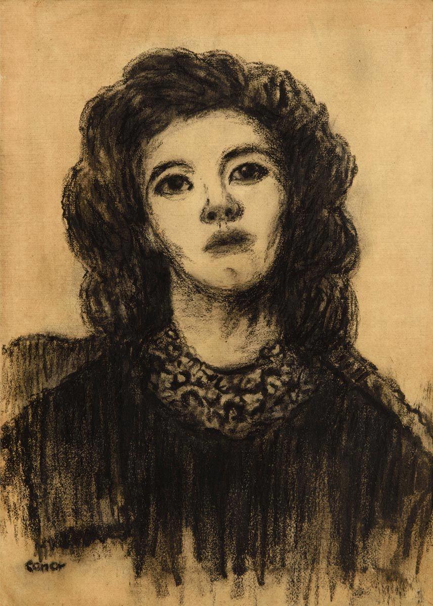 William Conor, Female Study at Morgan O'Driscoll Art Auctions