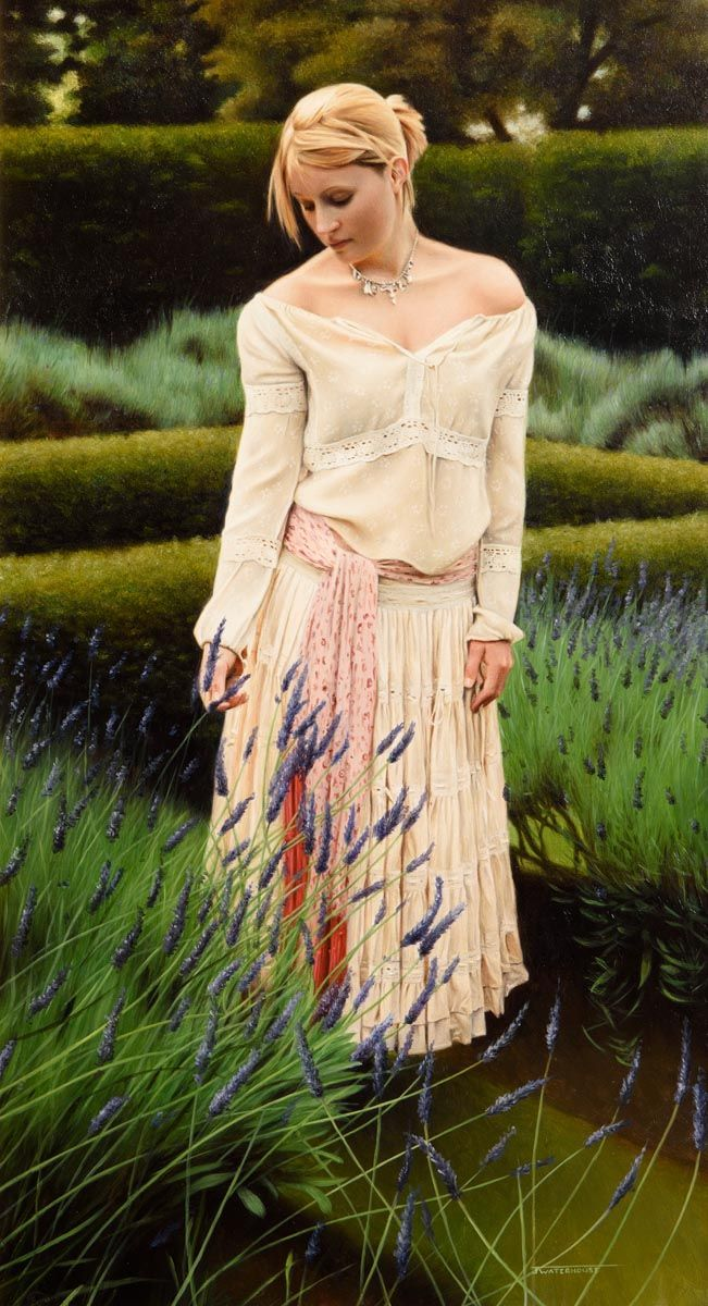 John Waterhouse, Lavender Picker at Morgan O'Driscoll Art Auctions