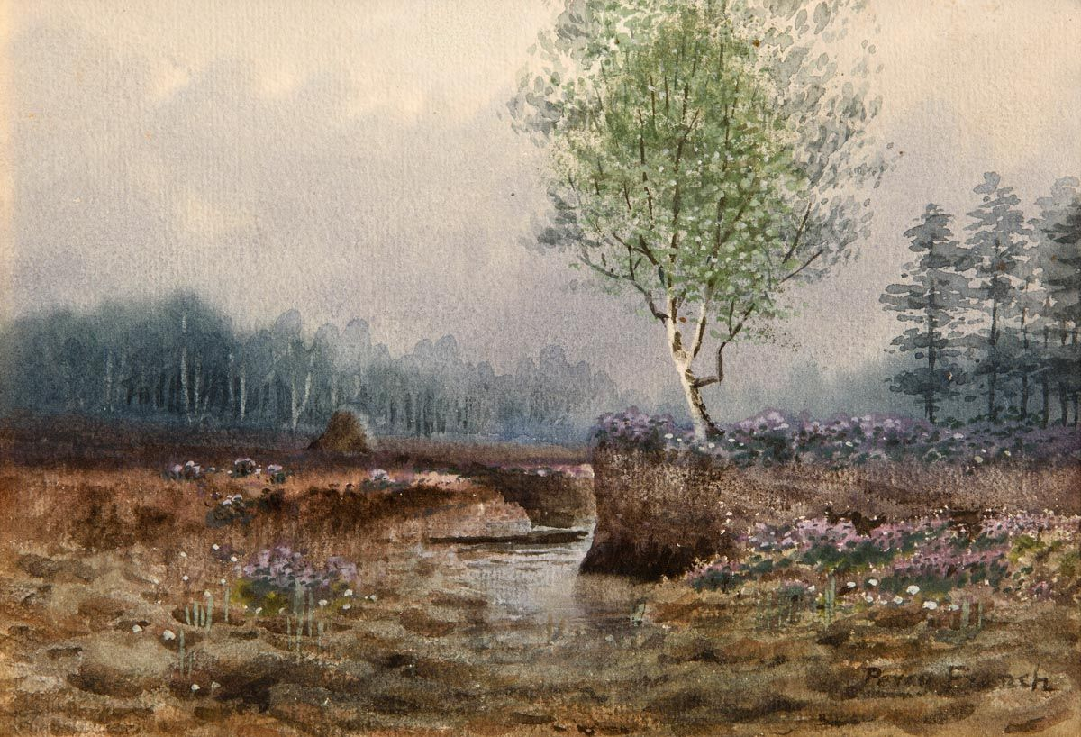 Percy French, Bogland Stream, West of Ireland at Morgan O'Driscoll Art Auctions