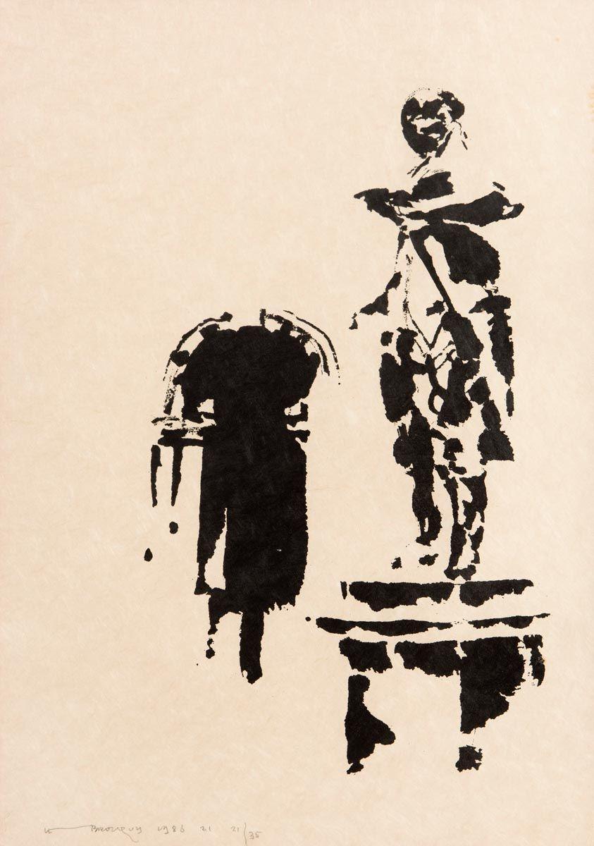 Louis Le Brocquy, Gold Smith, TCD (1986) at Morgan O'Driscoll Art Auctions