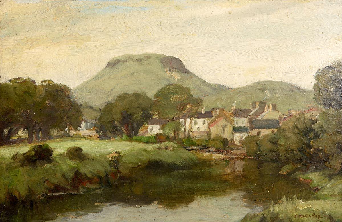Charles J. McAuley, Cushendall Village and Lurigadean at Morgan O'Driscoll Art Auctions