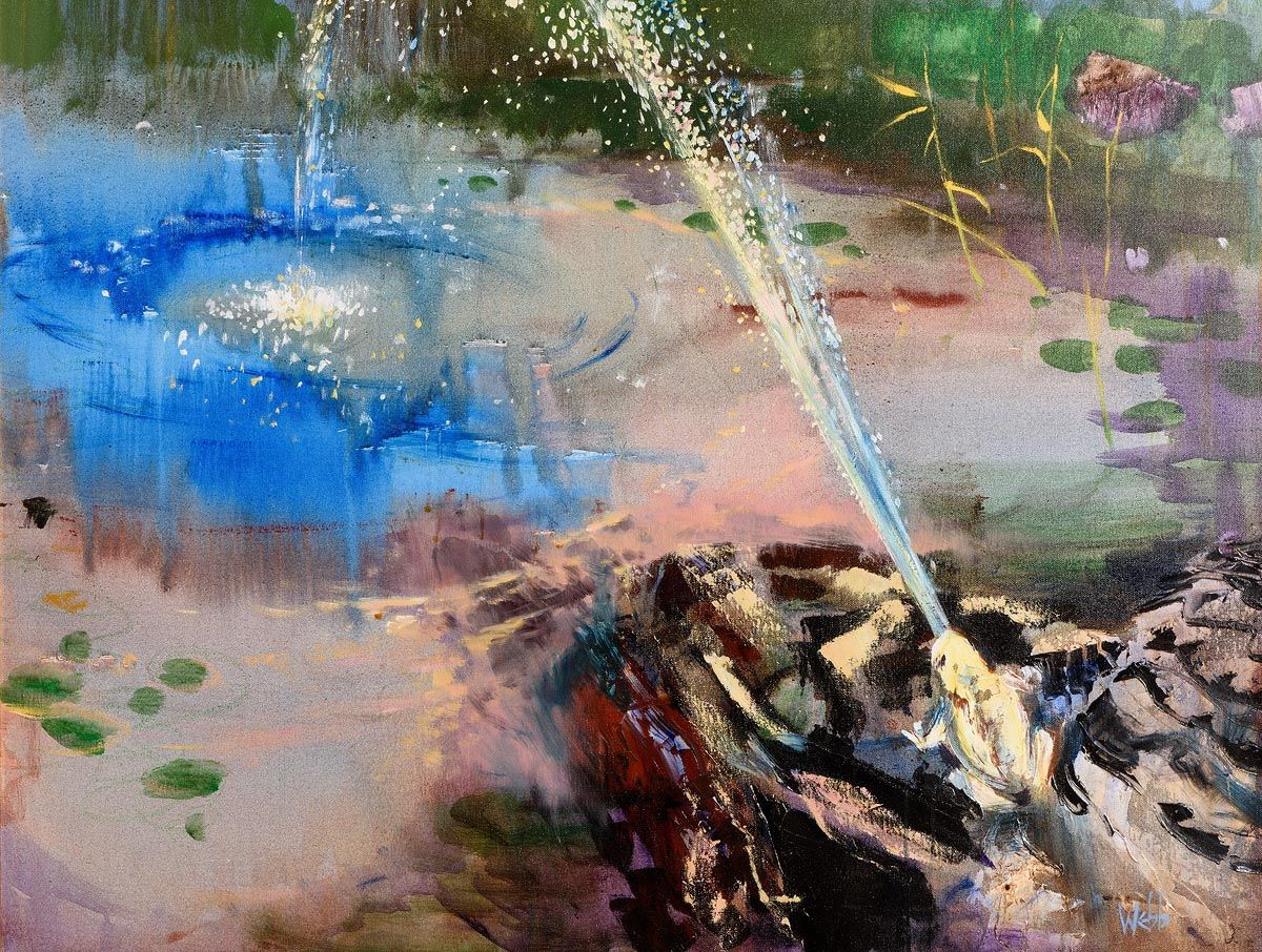 Kenneth Webb, Frog Fountain at Morgan O'Driscoll Art Auctions