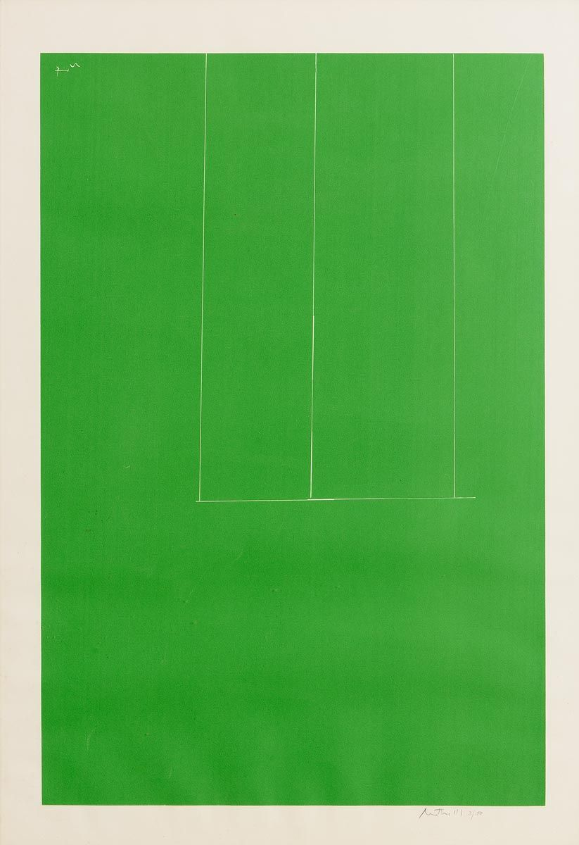 Robert Motherwell, London Series I: Untitled (Green) (1971) at Morgan O'Driscoll Art Auctions