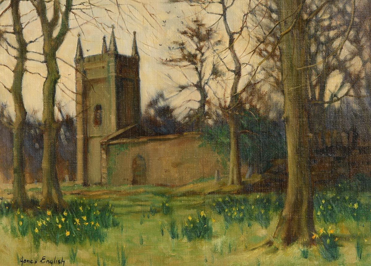 James English, Churchyard, Spring (1983) at Morgan O'Driscoll Art Auctions