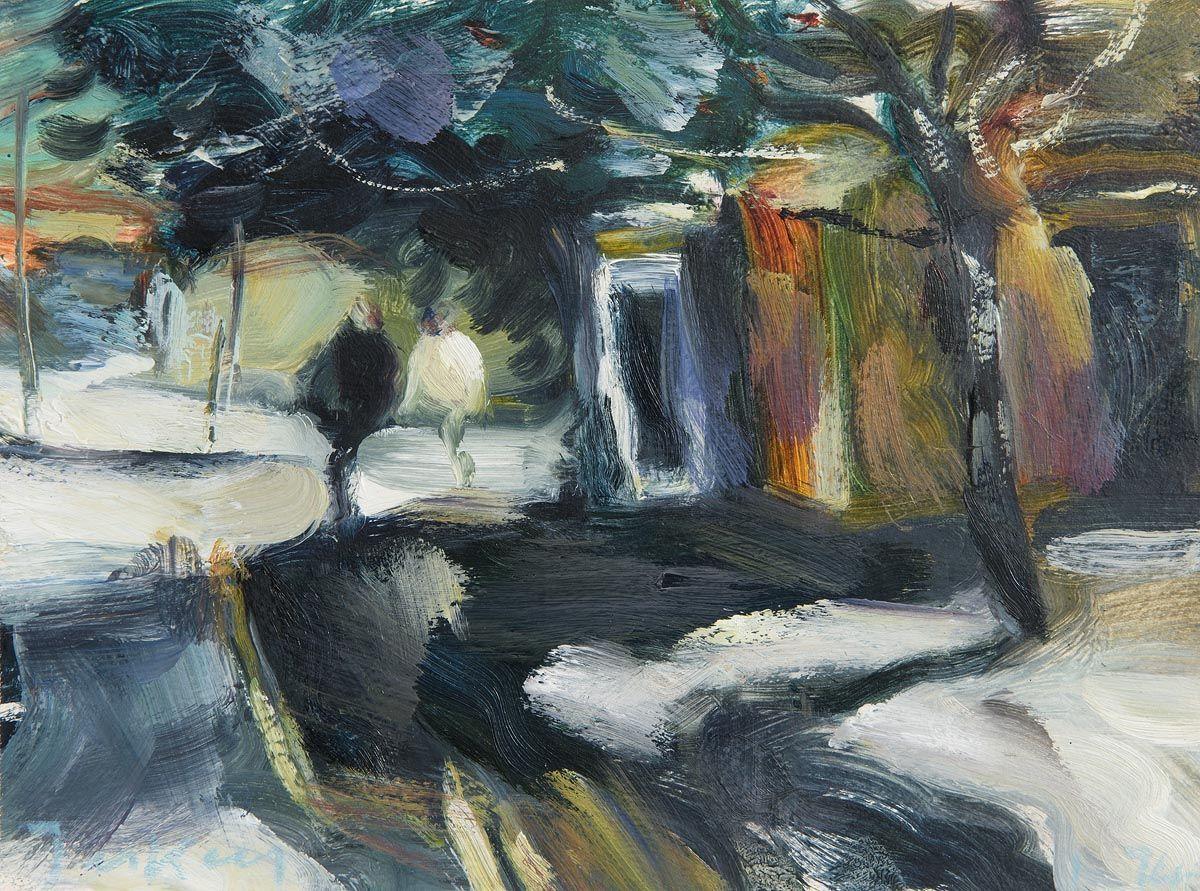 Donald Teskey, Figures and Call Box (1994) at Morgan O'Driscoll Art Auctions