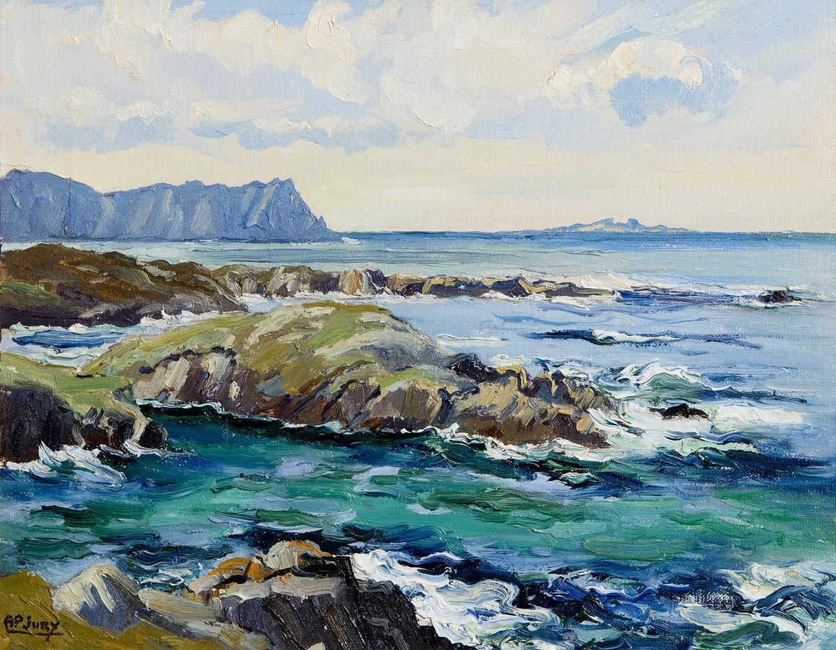 Ann Primrose Jury, Horn Head from Atlantic Drive, Co Donegal at Morgan O'Driscoll Art Auctions