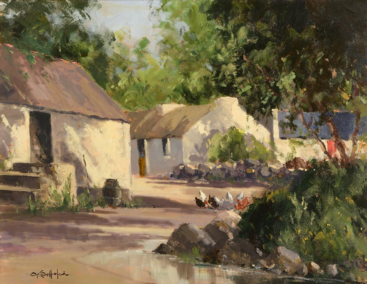 George Gillespie, Hens Feeding at Morgan O'Driscoll Art Auctions